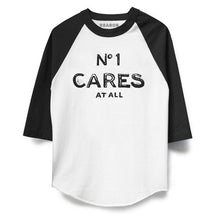 Load image into Gallery viewer, No1 Cares Raglan Front