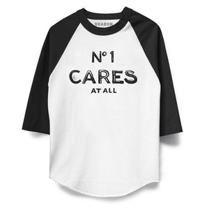 No1 Cares Raglan Front
