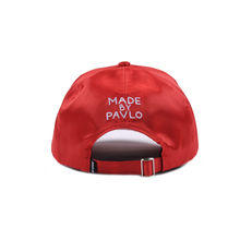 Load image into Gallery viewer, MADE BY PAVLO INSPIRED BY PICASSO CAP (RED SATIN)