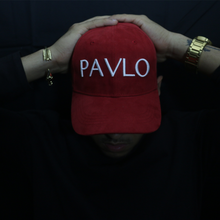 Load image into Gallery viewer, MADE BY PAVLO SUEDE CAP (RED)
