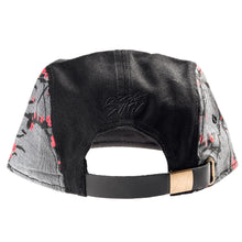 Load image into Gallery viewer, sakura_5_panel_strapback_blk_b_1024x1024