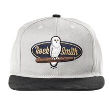 Load image into Gallery viewer, RockSmith <br> White Owl Strapback ~Grey