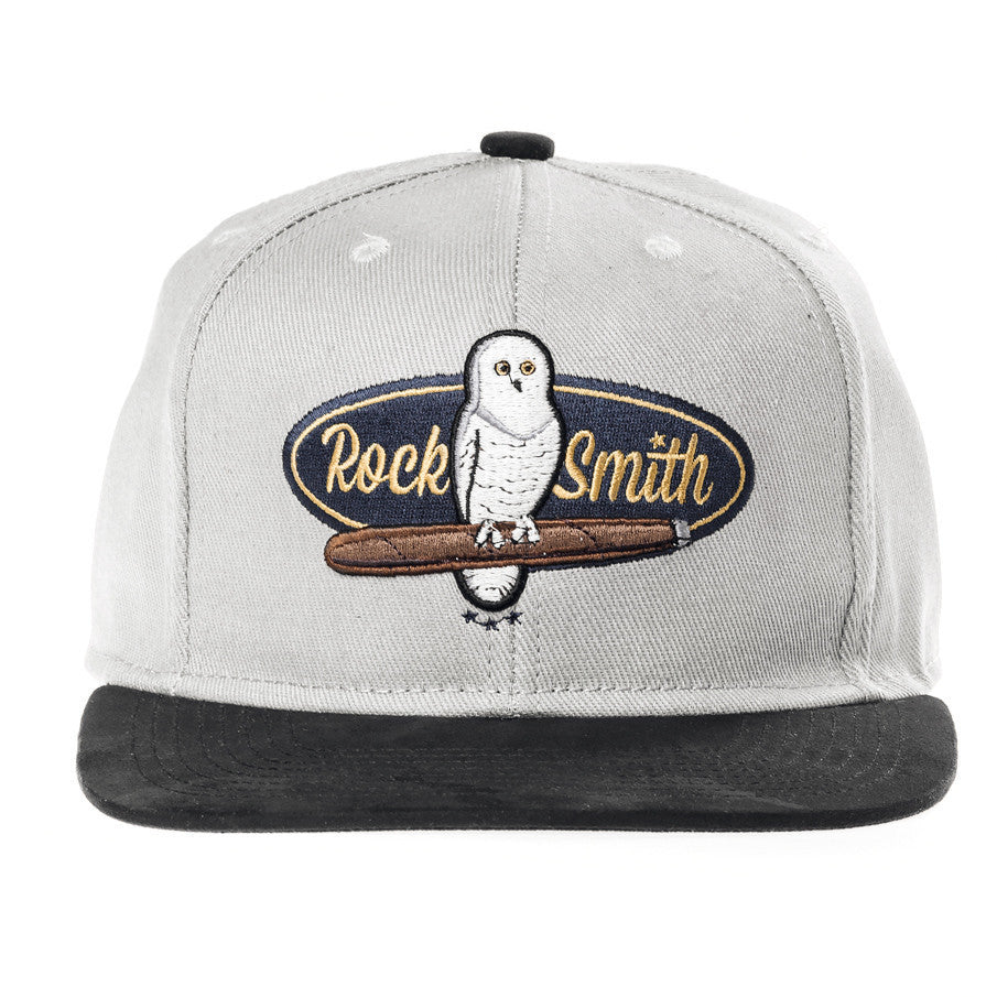 RockSmith <br> White Owl Strapback ~Grey
