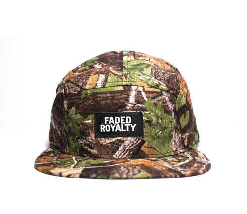 Faded Royalty <br> Real Tree 5 Panel Strapback