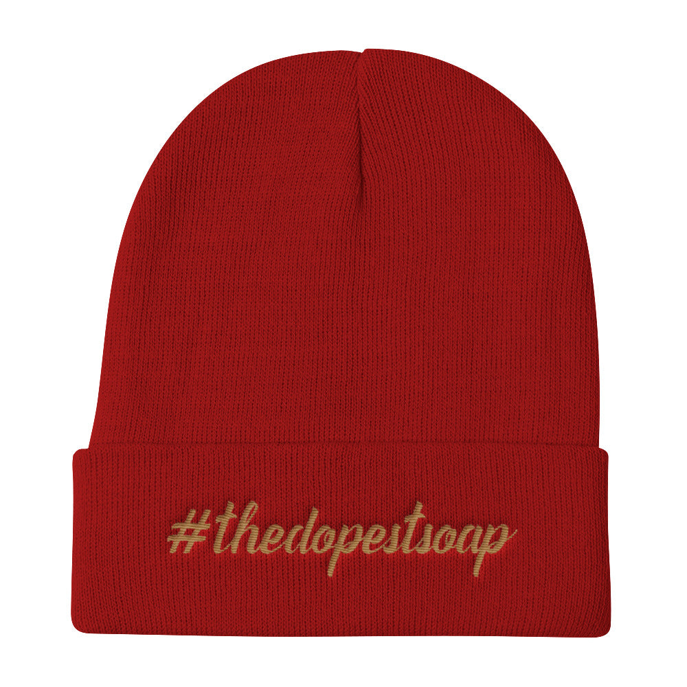 The Dopest Soap - Knit Beanie - Gold Thread