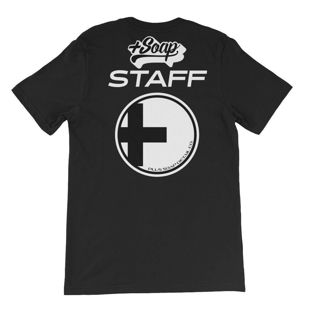 PLUS SOAP STAFF T-SHIRT - MEN'S BLACK