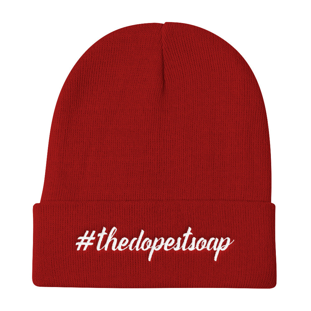 The Dopest Soap Knit Beanie - White Stitching