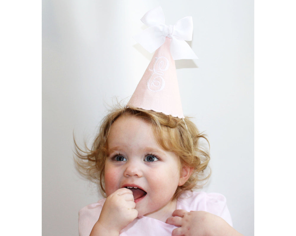 Girls First Birthday Pink Personalized Party Hat - 1st Birthday Hat Girl - Birthday Hat for Baby Girl - Girls 1st Birthday Party - Girls Bir