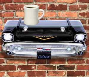 1957 Bel Air Front Wall Shelf With Lights Black - GM Company Store