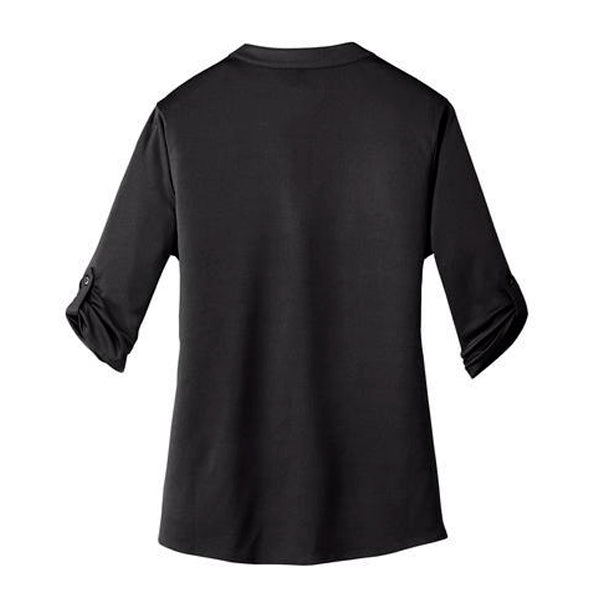 GM Women OGIO® Henley - Black