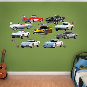 Fathead Corvette Generations Wall Decals - GM Company Store