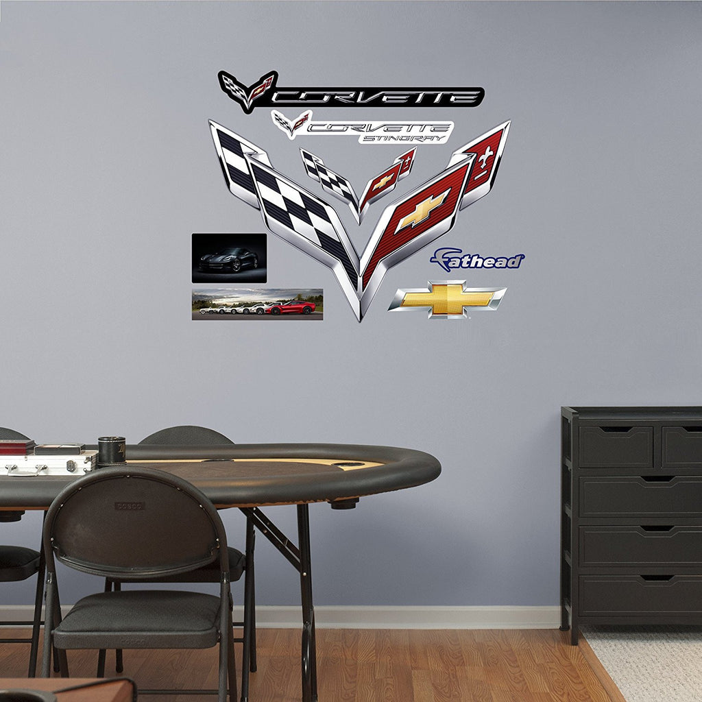 Fathead C7 Corvette Crossed Flags Wall Decals - GM Company Store