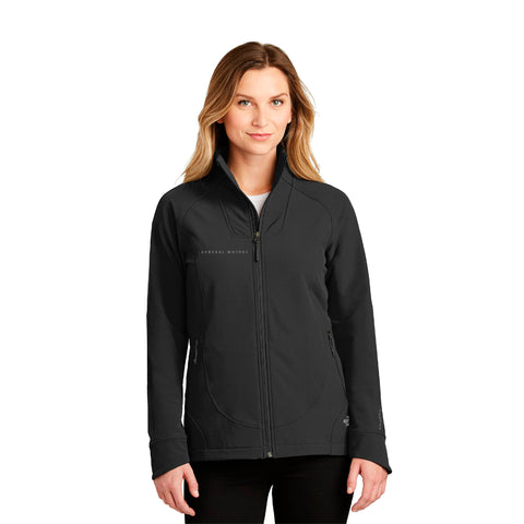 General Motors Ladies' Tech Stretch Soft Shell Black Jacket