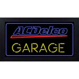 ACDelco Neon Garage Framed Wall Sign - GM Company Store