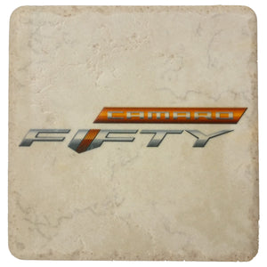 Camaro Fifty Stone Tile Coaster Light - GM Company Store