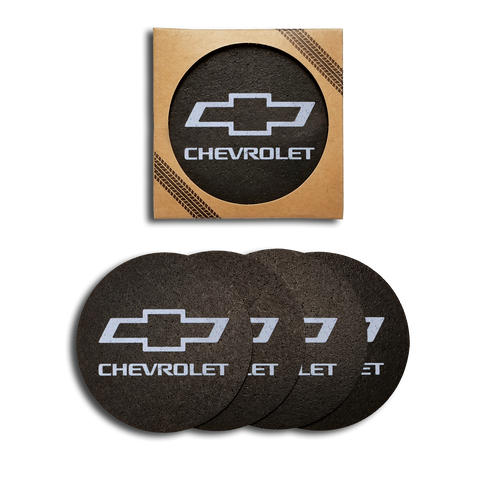 Chevrolet Recycled Rubber Tire 4 Pack Coaster Set - GM Company Store