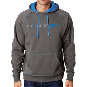 Bolt EV Hooded Fleece Grey & Blue - GM Company Store