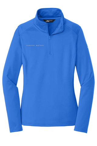 General Motors - The North Face - Ladies 1/4 Zip Fleece - Monster Blue