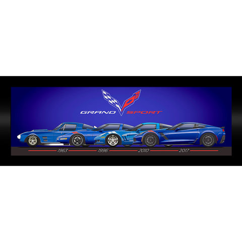 Corvette Grand Sport Generations Framed Print