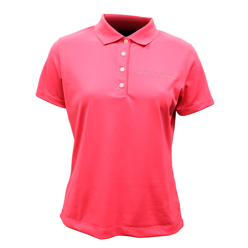General Motors Ladies Nike Dri Fit Polo-Flamingo - GM Company Store
