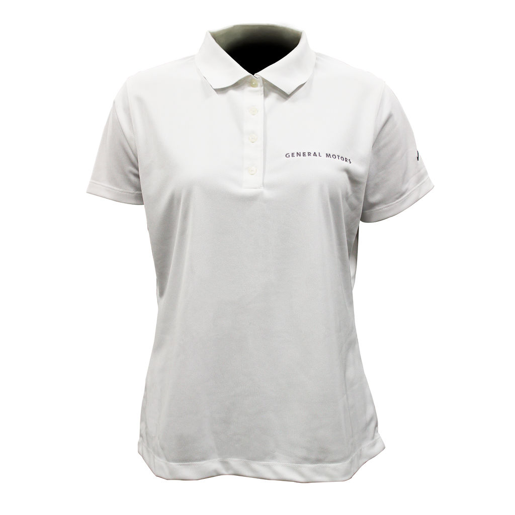 General Motors Ladies Nike Dri Fit Polo- White - GM Company Store