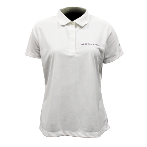General Motors Ladies Nike Dri Fit Polo- White