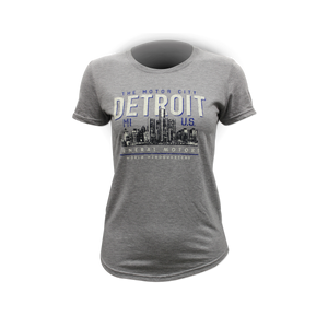 Ladies General Motors World Headquarters Motor City T-shirt - GM Company Store