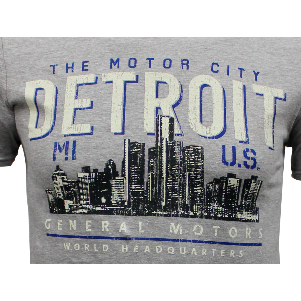 Men's General Motors World Headquarters Detroit  Motor City T-shirt