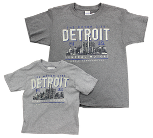 Youth General Motors World Headquarters Detroit  Motor City T-shirt - GM Company Store