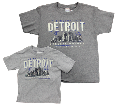 Youth General Motors World Headquarters Detroit  Motor City T-shirt