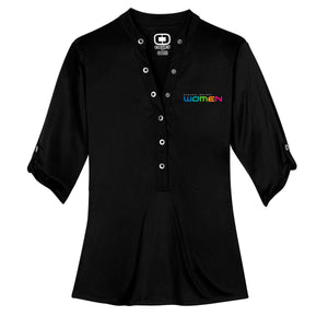 GM Women OGIO® Henley - Black - GM Company Store