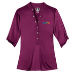 GM Women OGIO® Henley - Purple