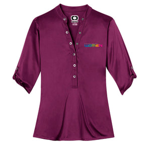 GM Women OGIO® Henley - Purple - GM Company Store