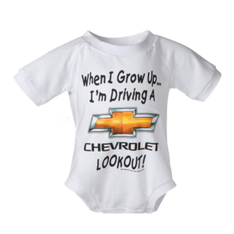 Chevrolet When I Grow Up Onesie - 12 mos - GM Company Store