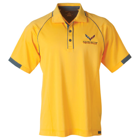Corvette C7 Racing Golf Men's Polo-Yellow