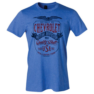 Chevrolet Distinguished Tee- Heather Royal - GM Company Store