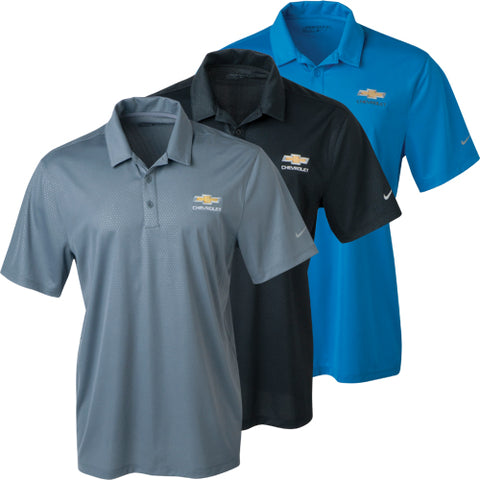 Chevrolet Men's Polo Dri Fit Embossed Black - GM Company Store