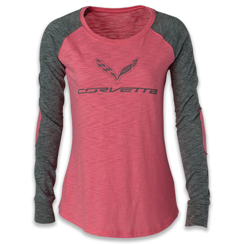 C-7 Corvette Ladies Patch Sleeve Tee - GM Company Store