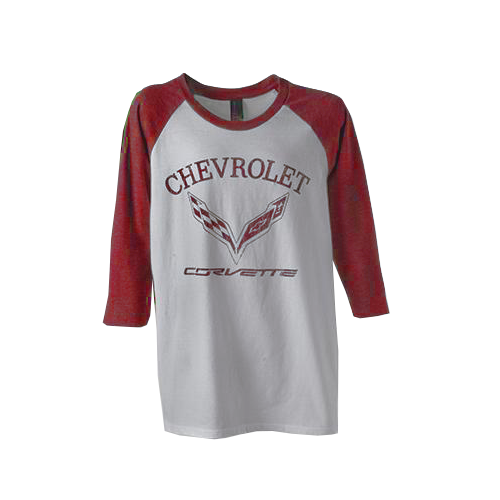 C7 Corvette Youth Raglan Tee- Red - GM Company Store