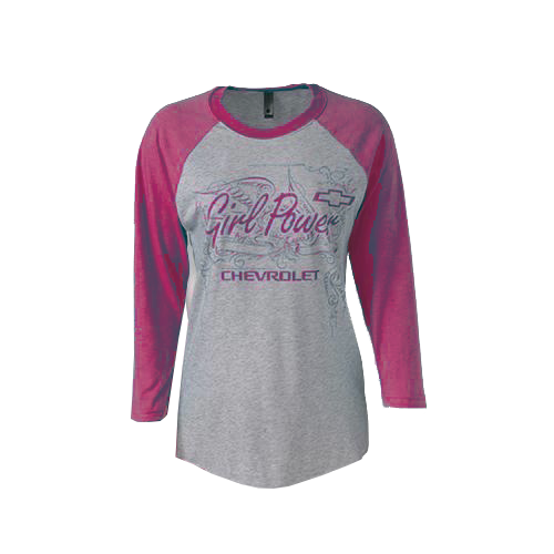 Chevy Girl Power 3/4 Sleeve Tee - GM Company Store