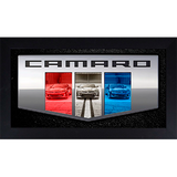 Framed Camaro Six Badge Triple - GM Company Store