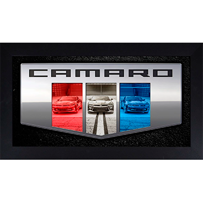 Framed Camaro Six Badge Triple