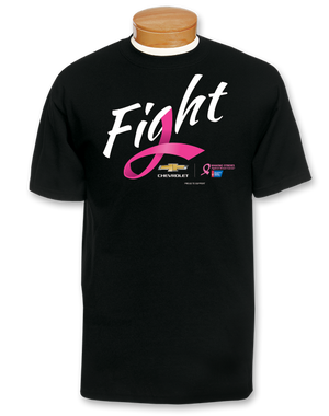 Chevrolet Breast Cancer Awareness Fight T-Shirt- Black - GM Company Store