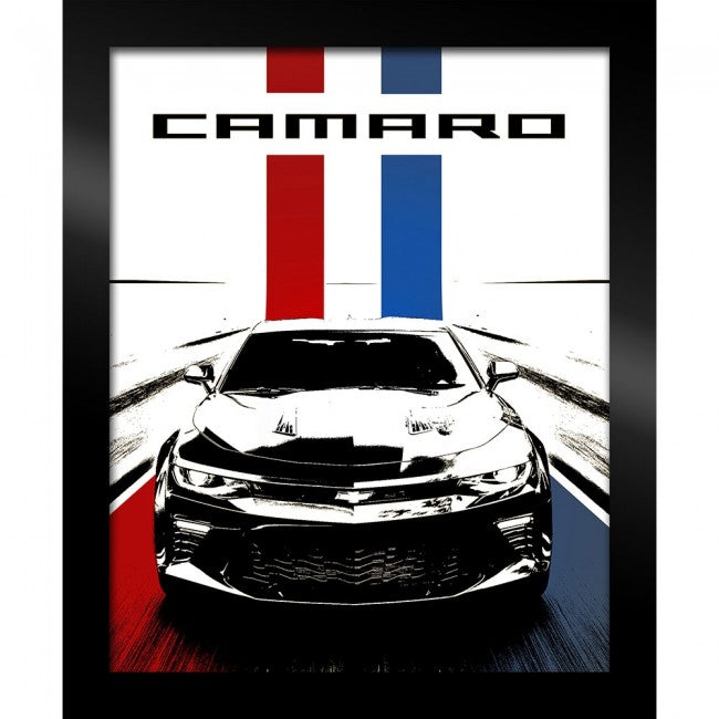 Framed Camaro Artwork- Red/White/Blue - GM Company Store