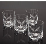 Corvette Double Old-Fashioned Glasses Crystal Set of 4