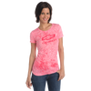 Chevrolet Ladies Open Bowtie Distressed Pink T-Shirt - GM Company Store