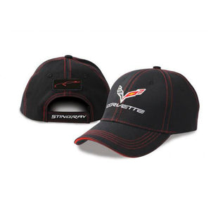 Corvette Stingray Patch Cap Black/Red - GM Company Store