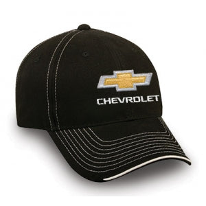Chevy Black Twill Cap w/Visor Accent & Gold BT - GM Company Store