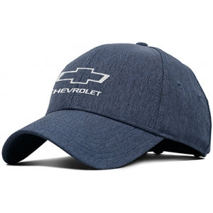 Chevy Heather Navy Hat w/Open BT Buckle Closure - GM Company Store
