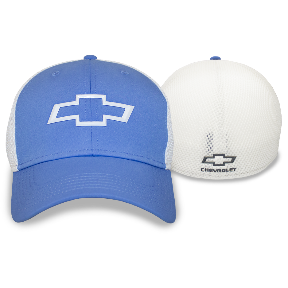 Chevrolet Fitted Blue & White Structured Cap- Open Bowtie - GM Company Store